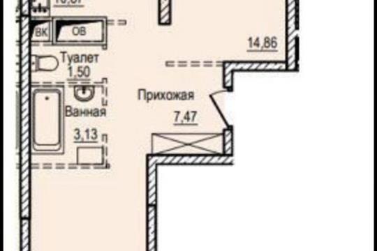 2-комн квартира, 56.5 м2, 19 этаж