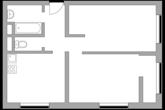 2-комн квартира, 48.13 м2, 9 этаж