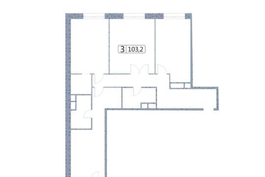 3-комн квартира, 103.2 м2, 5 этаж