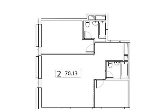 2-комн квартира, 70.13 м2, 6 этаж