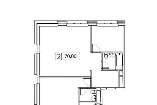 2-комн квартира, 70 м2, 5 этаж