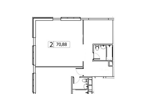 2-комн квартира, 70.88 м2, 4 этаж