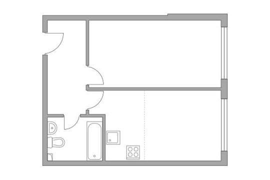 2-комн квартира, 40.6 м2, 3 этаж