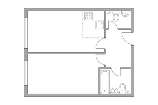2-комн квартира, 41.1 м2, 7 этаж
