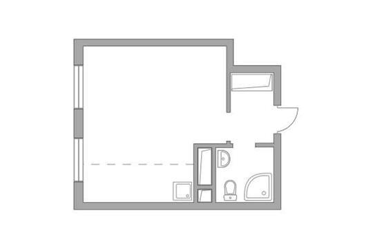 Студия, 25.66 м2, 20 этаж