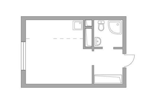 Студия, 23.06 м2, 20 этаж