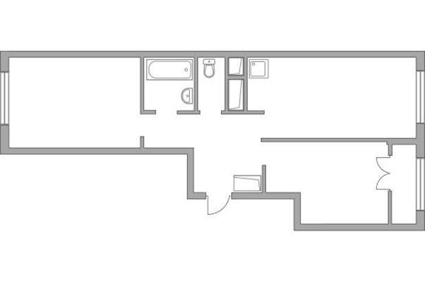 2-комн квартира, 54.4 м2, 20 этаж - фото 1