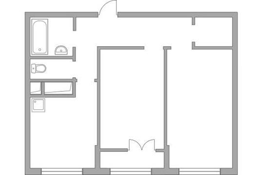 2-комн квартира, 54.32 м2, 20 этаж