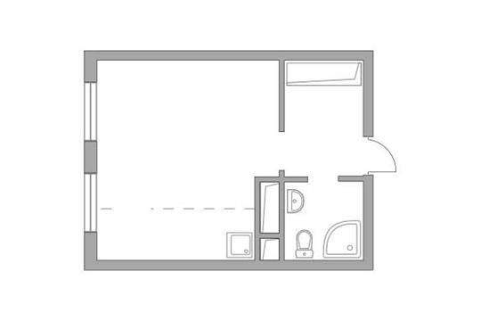 Студия, 25.87 м2, 20 этаж
