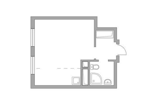 Студия, 25.74 м2, 20 этаж