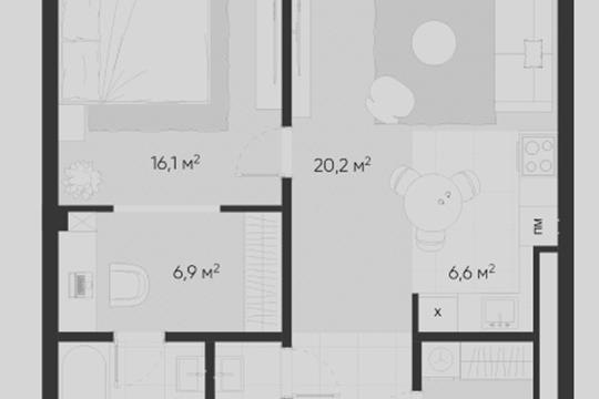 2-комн квартира, 66.2 м2, 5 этаж