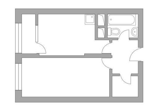 1-комн квартира, 34.22 м2, 2 этаж