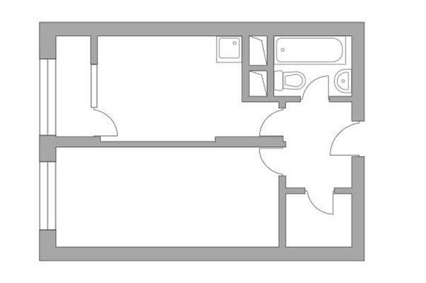 1-комн квартира, 34.22 м2, 2 этаж - фото 1