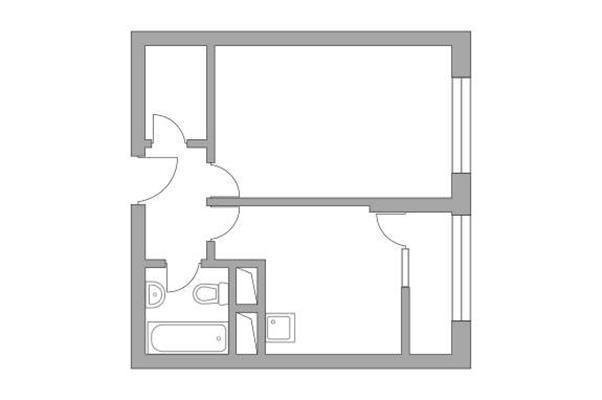 1-комн квартира, 31.81 м2, 15 этаж - фото 1