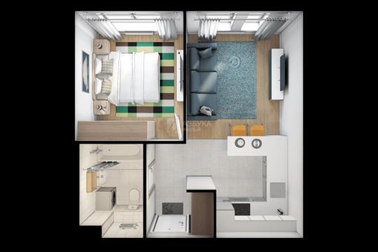 1-комн квартира, 35.8 м2, 21 этаж