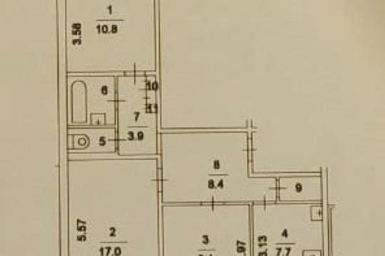 3-комн квартира, 68.9 м2, 9 этаж
