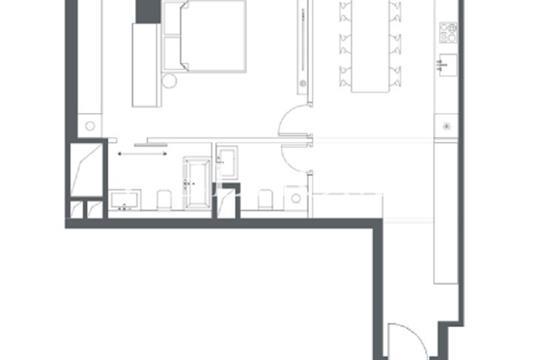 2-комн квартира, 62 м2, 27 этаж