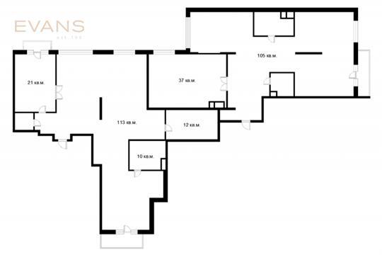 Многокомнатная квартира, 314 м2, 3 этаж