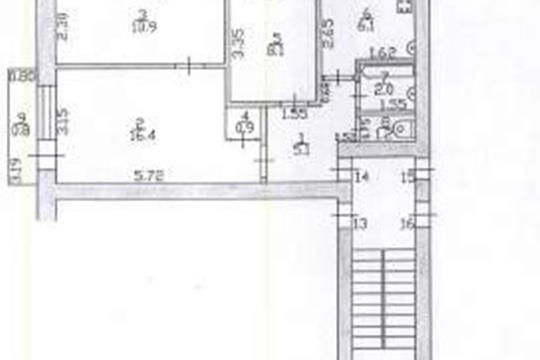 3-комн квартира, 50.7 м2, 4 этаж
