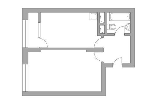 1-комн квартира, 39.6 м2, 23 этаж