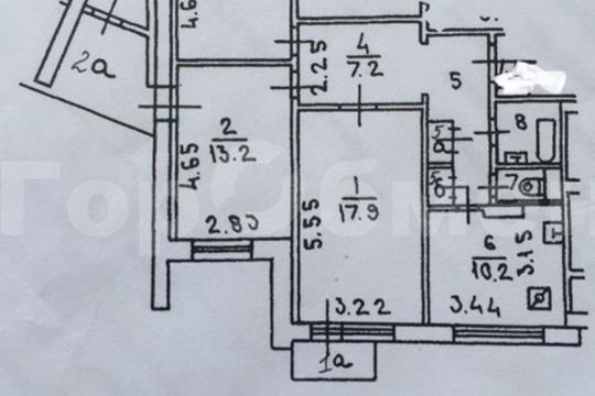 3-комн квартира, 87 м2, 10 этаж
