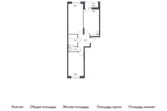 2-комн квартира, 54.83 м2, 5 этаж