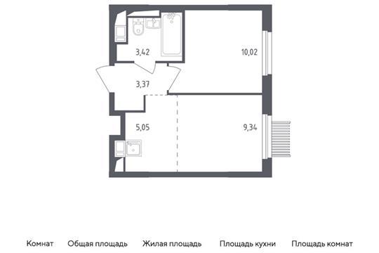 2-комн квартира, 31.2 м2, 15 этаж