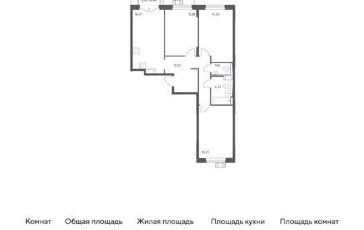 3-комн квартира, 78.81 м2, 8 этаж