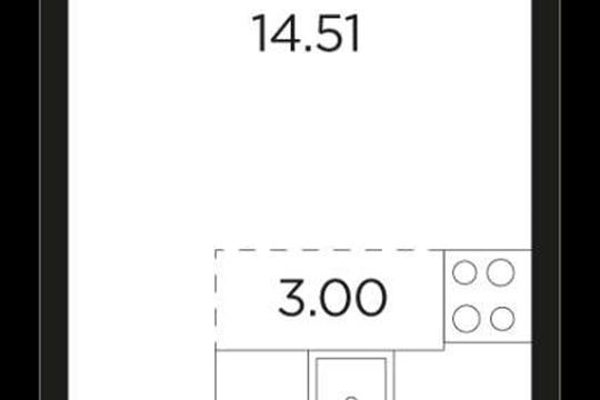 1-комн квартира, 37 м2, 17 этаж