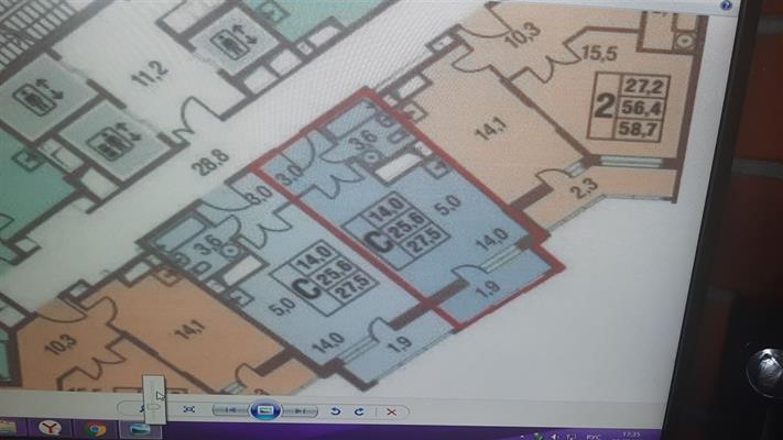 Студия, 28 м2, 19 этаж - фото 1