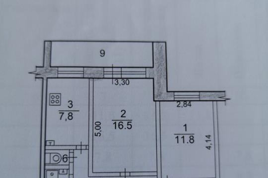 2-комн квартира, 53.6 м<sup>2</sup>, 3 этаж_1