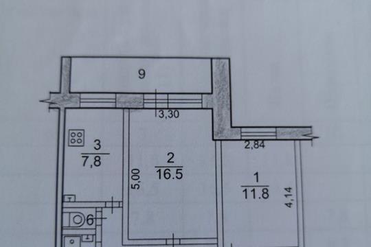 2-комн квартира, 53.6 м2, 3 этаж