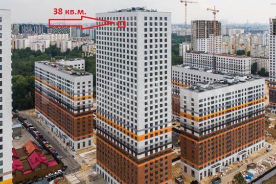 1-комн квартира, 38.03 м2, 32 этаж