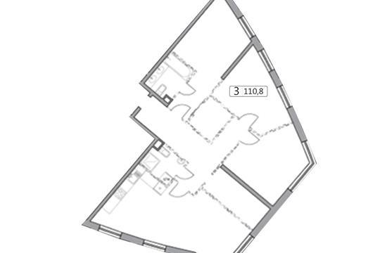 3-комн квартира, 110.92 м2, 24 этаж