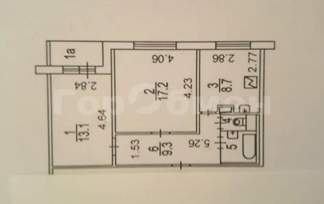 2-комн квартира, 52.1 м2, 7 этаж