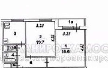 2-комн квартира, 46 м2, 3 этаж