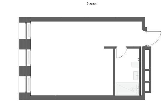 1-комн квартира, 37.9 м2, 6 этаж