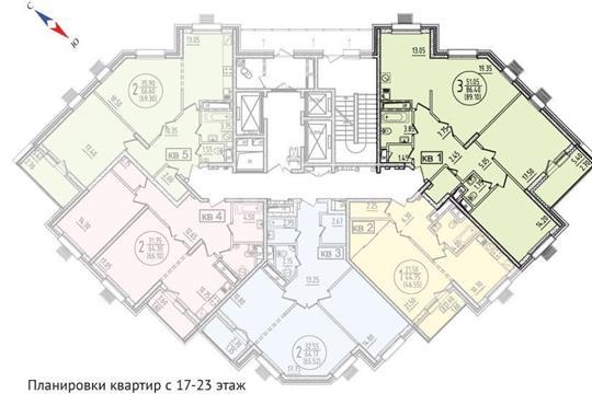 3-комн квартира, 93.9 м<sup>2</sup>, 18 этаж_1
