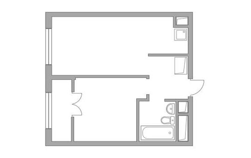 1-комн квартира, 35.43 м2, 14 этаж