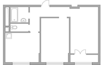 2-комн квартира, 52.35 м2, 14 этаж