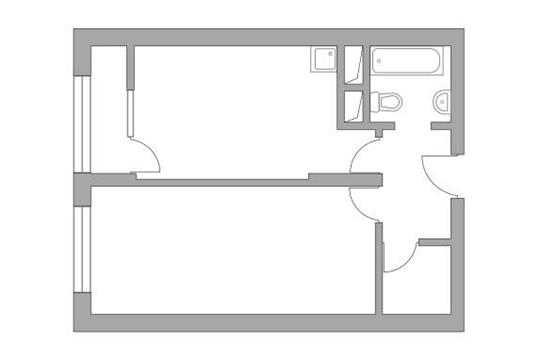 1-комн квартира, 42.27 м2, 8 этаж