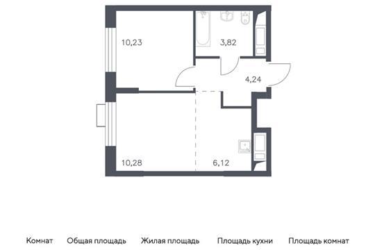 2-комн квартира, 34.69 м2, 5 этаж