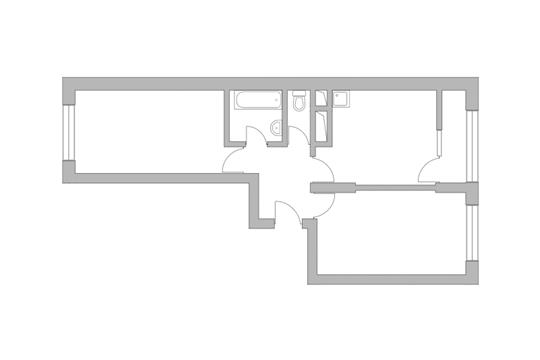 2-комн квартира, 51.8 м2, 10 этаж