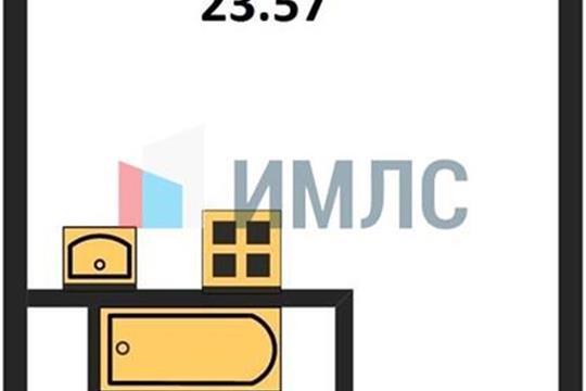 Студия, 23.57 м2, 5 этаж