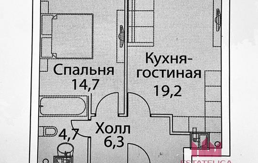 1-комн квартира, 45 м2, 15 этаж