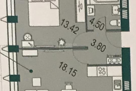 1-комн квартира, 39.87 м2, 28 этаж