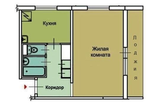 1-комн квартира, 34 м2, 12 этаж