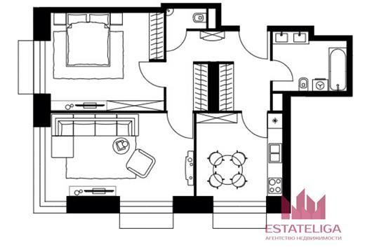 2-комн квартира, 70 м2, 4 этаж