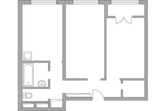 2-комн квартира, 51.75 м2, 1 этаж
