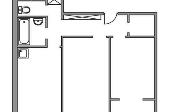 2-комн квартира, 50.65 м2, 6 этаж